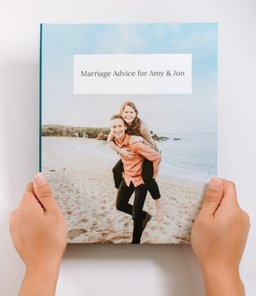 """Personalized Book of Advice from Friends and Family - 8""""x10"""" Hardback"""