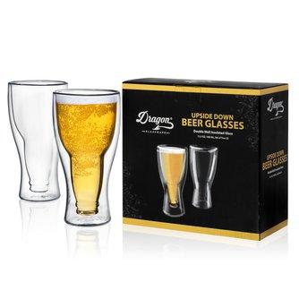 Upside Down Beer Glasses