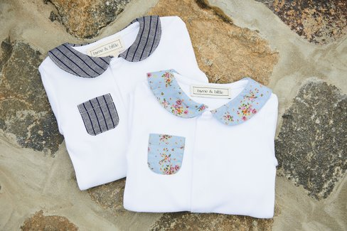 The Printed Collar Baby Body