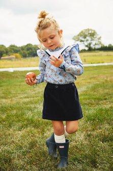 Corduroy Suspender Skirt