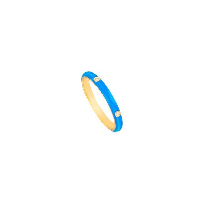 14K Yellow Gold Blue Enamel Ring .jpg
