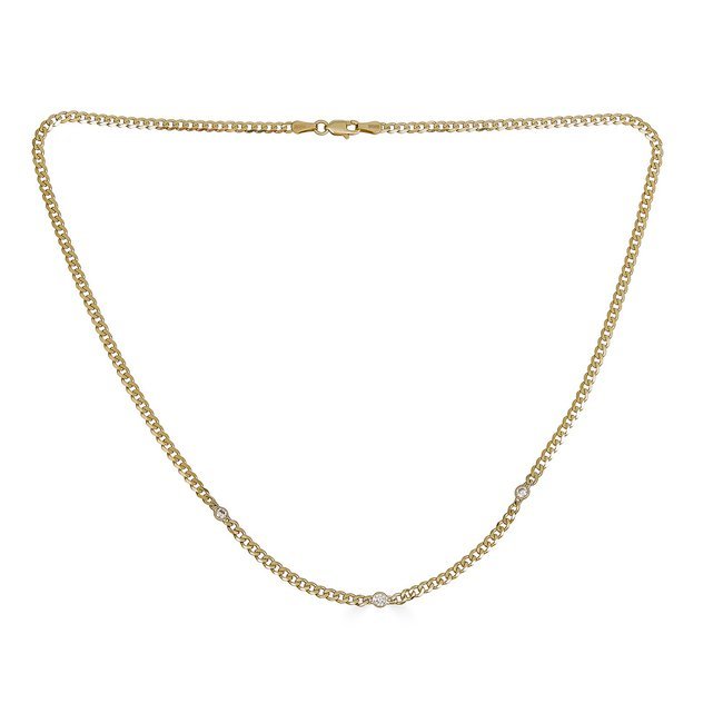 14K Yellow Gold Chain Necklace with Diamonds.jpg