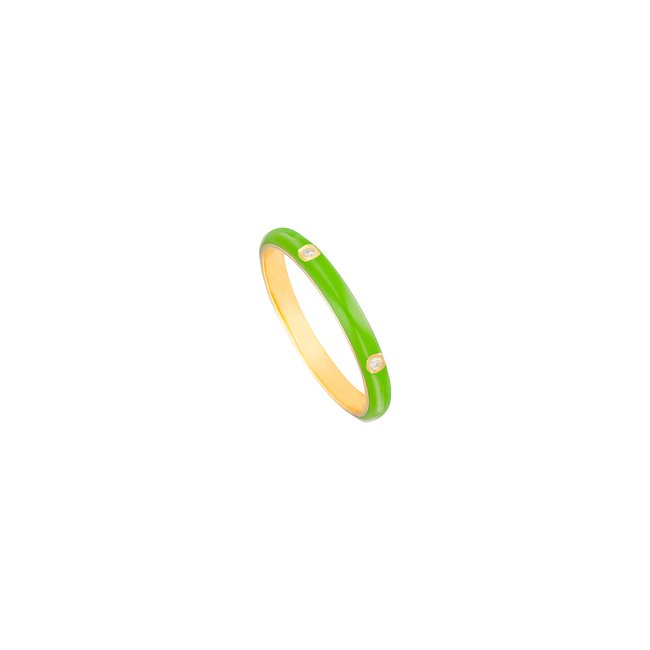 14K Yellow Gold Green Enamel Ring .jpg