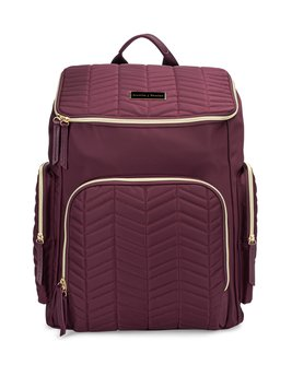 The Brielle Backpack - in Mulberry