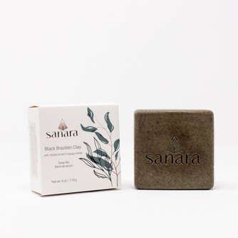 Black Brazilian Clay Soap Bar with Jojoba oil and Cupuaçu Butter