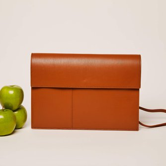 Brown Gala Tech Folio Bag