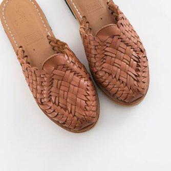 Anita Mule (Handwoven Leather Huarache Sandals)