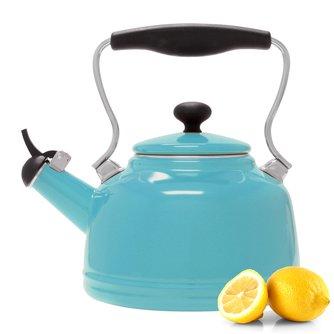 Enamel-On-Steel Vintage Teakettle