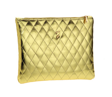 Janeke Large Quilted Cosmetic Pouch