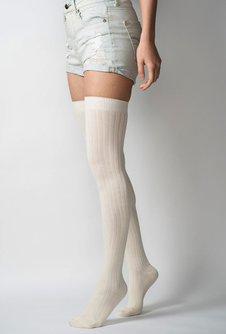 Ribbed Thigh High Socks
