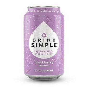 Blackberry Lemon Sparkling Maple Water