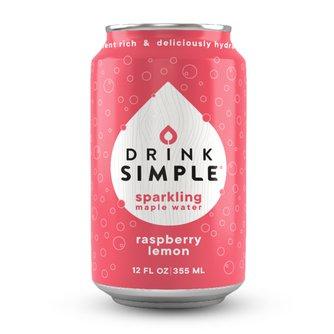 Raspberry Lemon Sparkling Maple Water