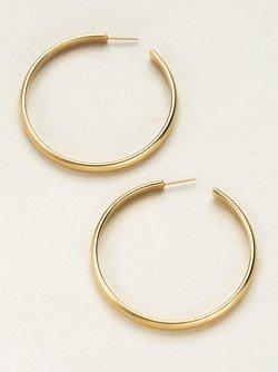 Cara Large Hoop Post Earrings