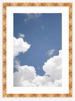 Clouds in Blue Sky - Burl Frame
