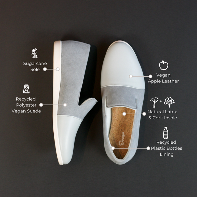 Blue / Grey House Loafers - Materials