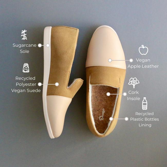 Blush / Cinnamon Loafers - Materials