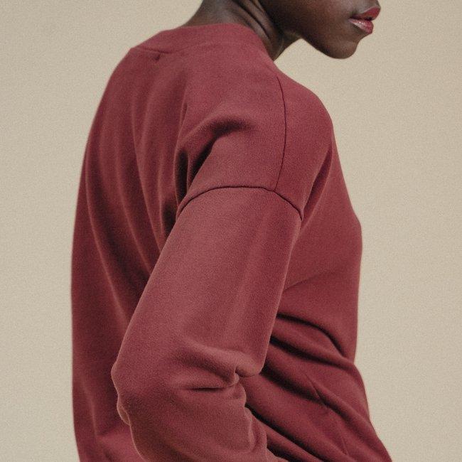Rene Organic Cotton Jogger Sweatshirt Brick