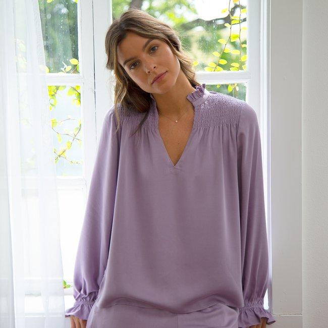 Half Asleep - Long Sleeve Short Set - Dusty Lavender.jpg
