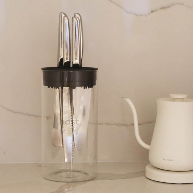 Hast high perfromance design knife-kitchen knife set-glossy stainless set-white.jpg