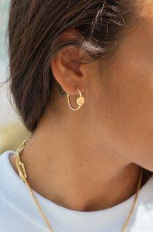 Perry Gold Disc Hoop Earrings