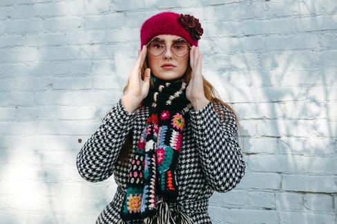 Woodstock Crochet Scarf
