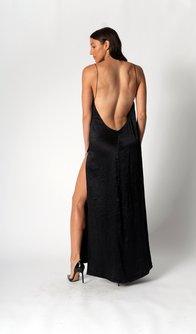 Maxi Slip Dress with Chain Straps