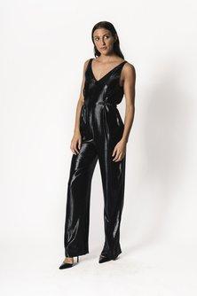 Belted Silk Jumpsuit