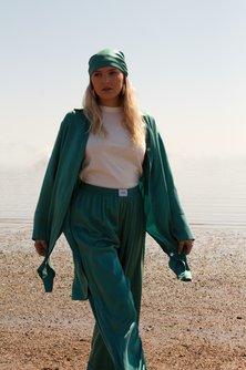 Washable Silk Elastic Pants