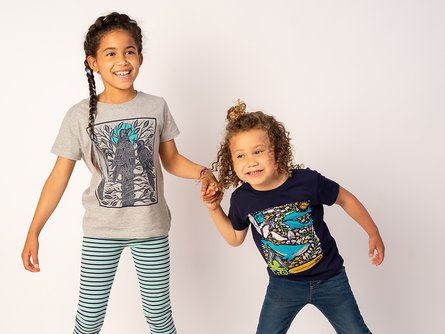Kids Organic Cotton Graphic Tee 2 Pack