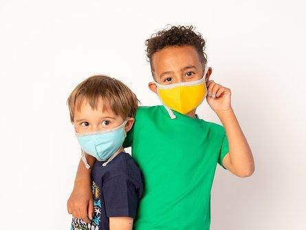 100% Organic Cotton Kids Face Masks 5-Pack