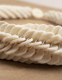 Ostrich Eggshell Twirl Necklace