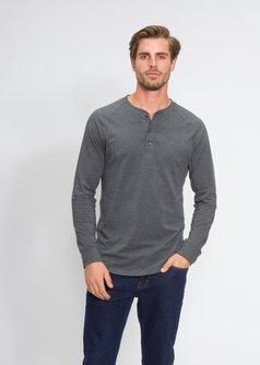 Men's Henley T-Shirt in Supima Cotton Stretch