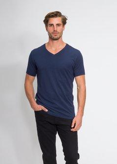 Men's Classic V-Neck T-Shirt in Supima Stretch Cotton