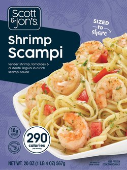Shrimp Scampi with Linguini Steamable Meal