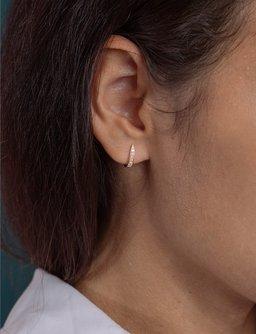 Tera Diamond Huggie Earrings