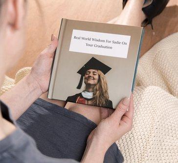 "Personalized 7""x7"" Hardback Square Book"