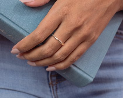 Terra Gold Band Ring