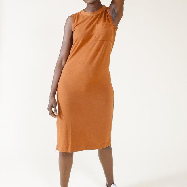 Sophie Tank Dress in Rust