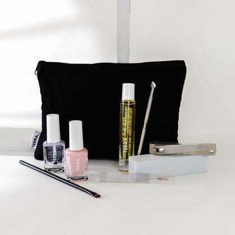 9-Piece Essentials Nail Kit with Top / Base Coat + Color of Choice