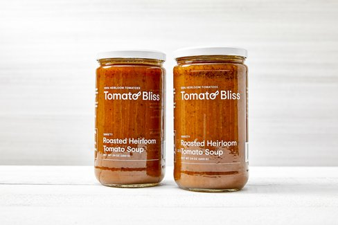 Roasted Heirloom Tomato Soup Duo