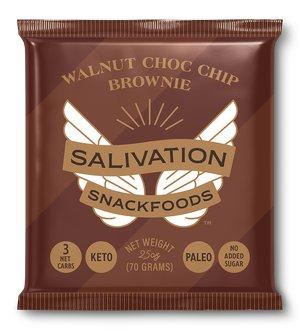 Keto Walnut Chocolate Chip Brownie