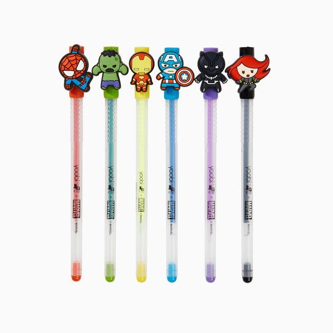 Yoobi x Marvel Avengers 6 Pack Gel Pens with Charms_WRPN0314_Shot 2W.jpg