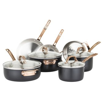 Black and Copper 3-Ply Cookware