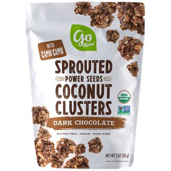 Dark Chocolate Sprouted Seed Coconut Clusters