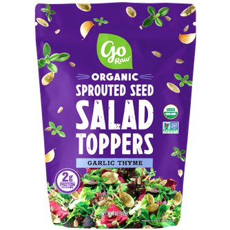 Garlic Thyme Sprouted Salad Toppers