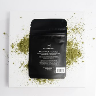 Meet your Match(a)   Matcha + Hyaluronic Acid Dry Defense Mask