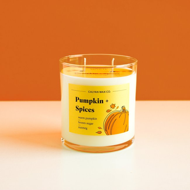 Pumpkin + Spices Glass Tumbler Soy Candle