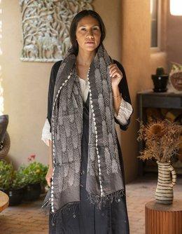 Sidra Feathers Shawl (Grey)