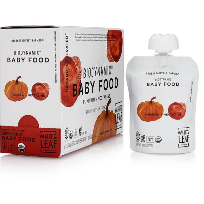 Pumpkin + Nectarine Baby Food (box of 6 pouches)