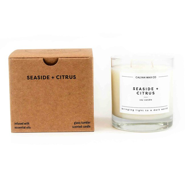Seaside + Citrus - Glass Tumbler Soy Wax Candle